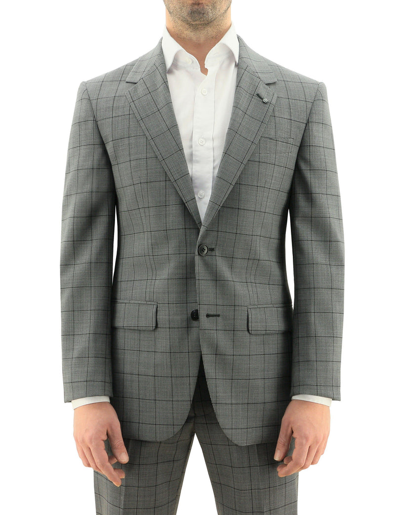 Ritchie Edward Grey Check Wool Suit
