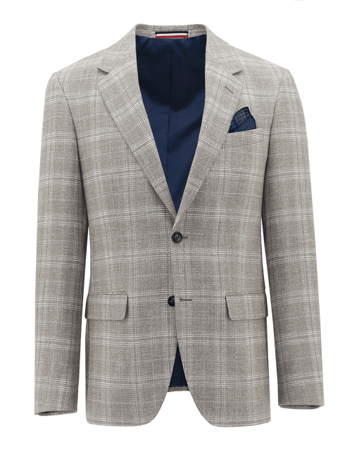 Ritchie Cream Linen Check Sports Jacket