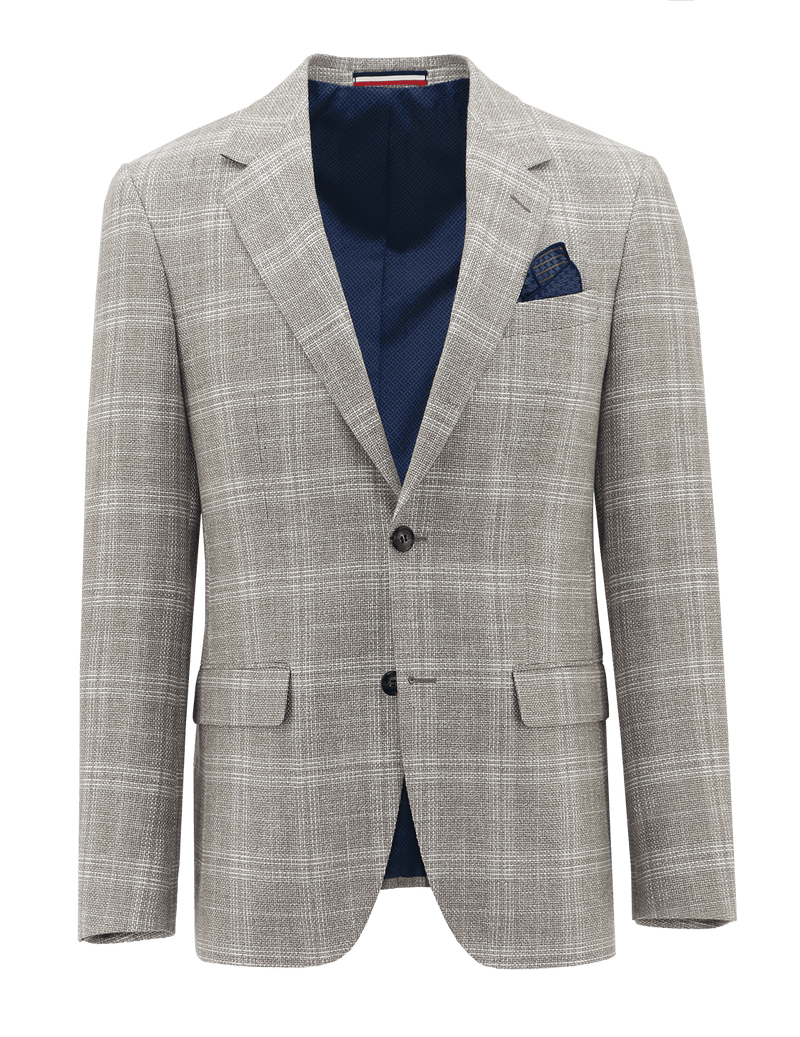 Ritchie Cream Linen Check Sports Jacket - 104