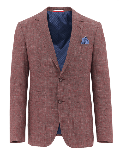 Prague Red Birdseye Sports Jacket