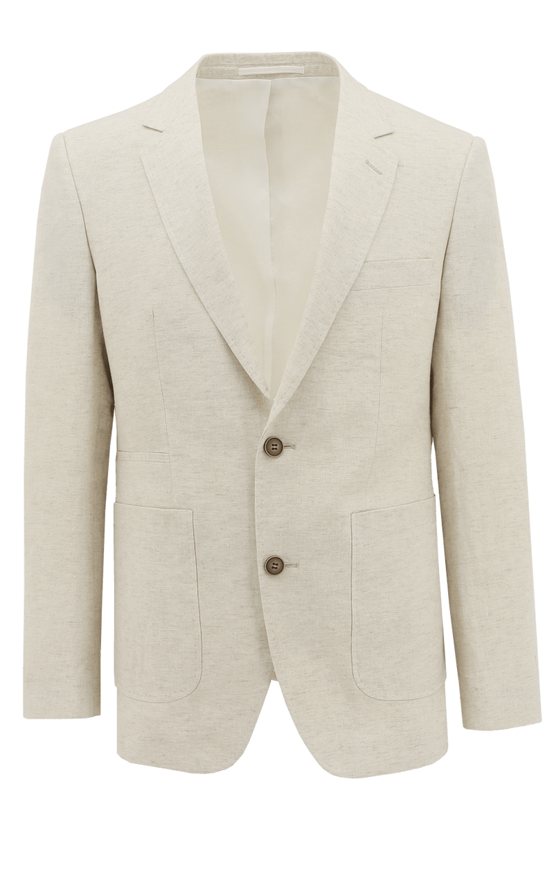 Prague Cream Linen Sports Jacket