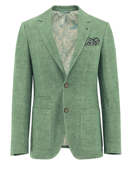 Prague Green Linen Sports Jacket