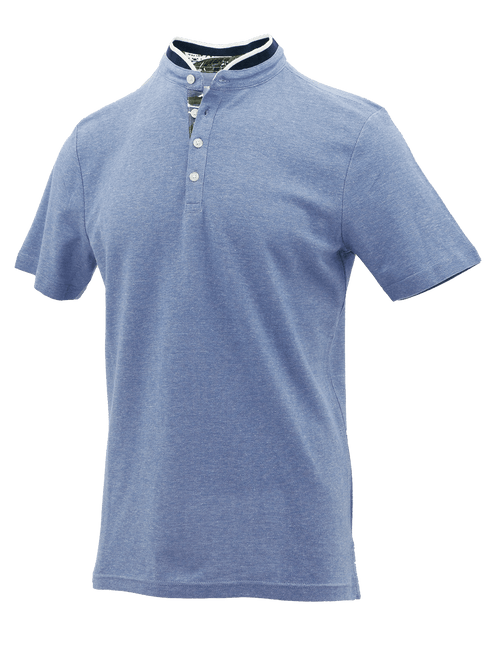 Blue Pop Cotton Polo