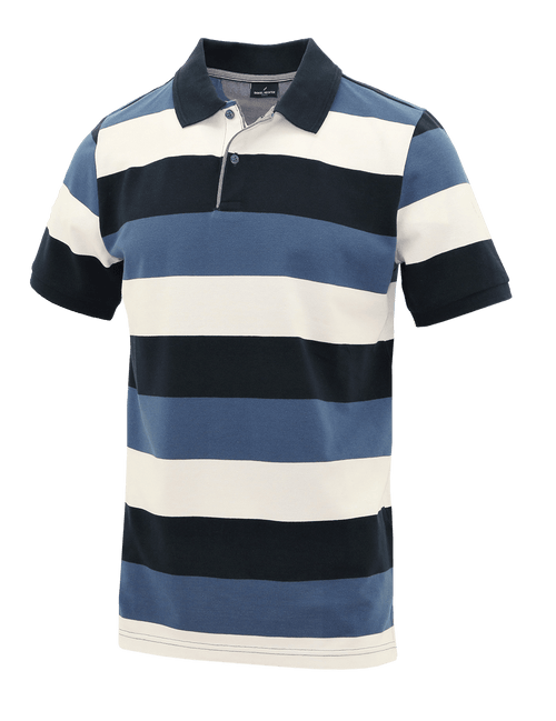 Blue Stripe Polo