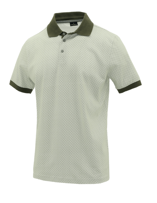 Green Tile Cotton Polo