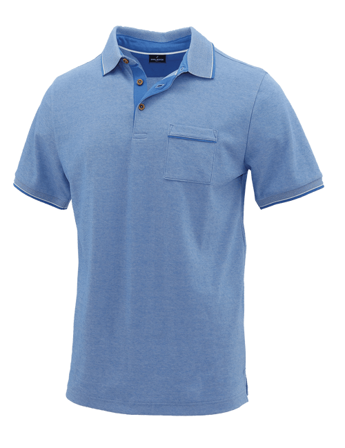 Blue Melange Polo