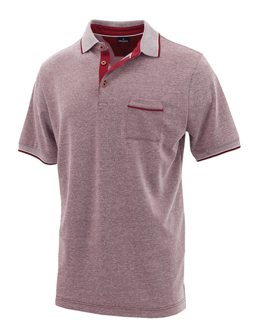 Red Melange Polo