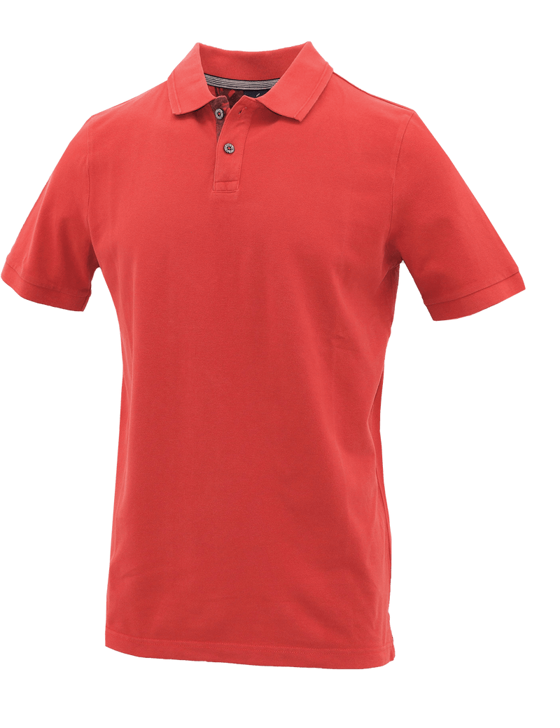 Red Cotton Polo