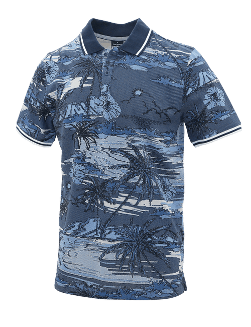 Blue Mirage Cotton Polo