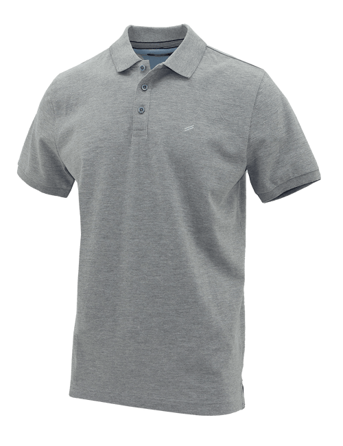 Grey Ribbed Polo