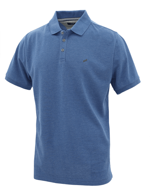 Blue Ribbed Polo