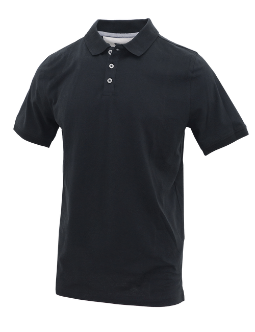 Black T-Shirt Cotton Polo