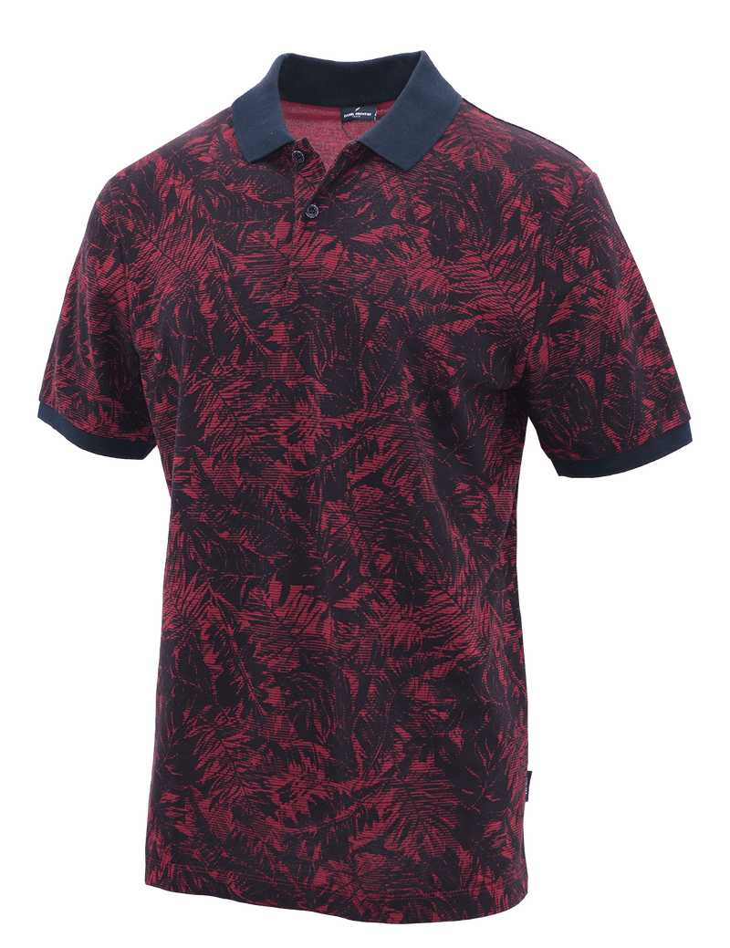 Red Frond Cotton Polo