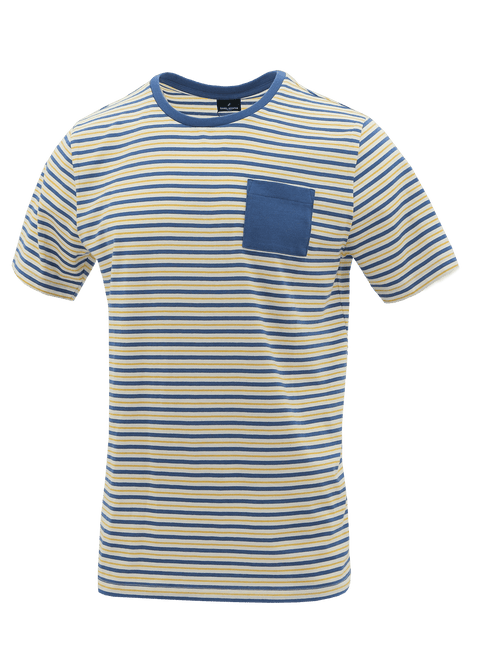 Crew Yellow Stripe Pocket T-Shirt