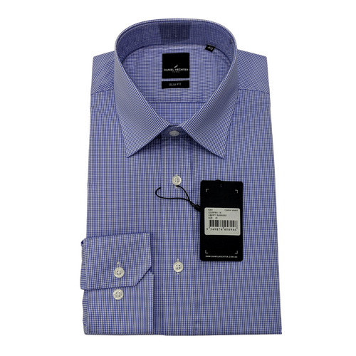 Liberty Business Blue Micro Check Shirt