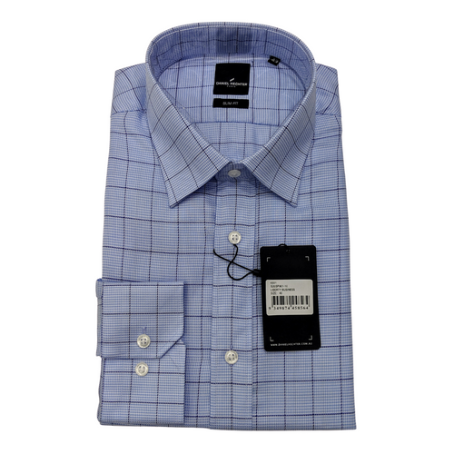 Liberty Business Blue Windowpane Shirt