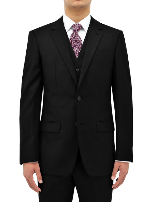 Michel 106 Black Wool Suit Jacket