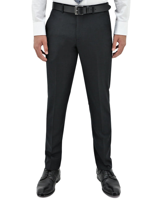 Lyon 106 Charcoal Wool Trouser
