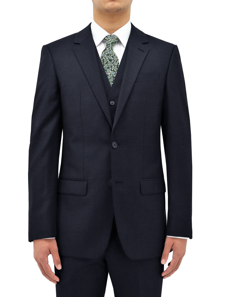 Michel 106 Midnight Blue Wool Suit Jacket