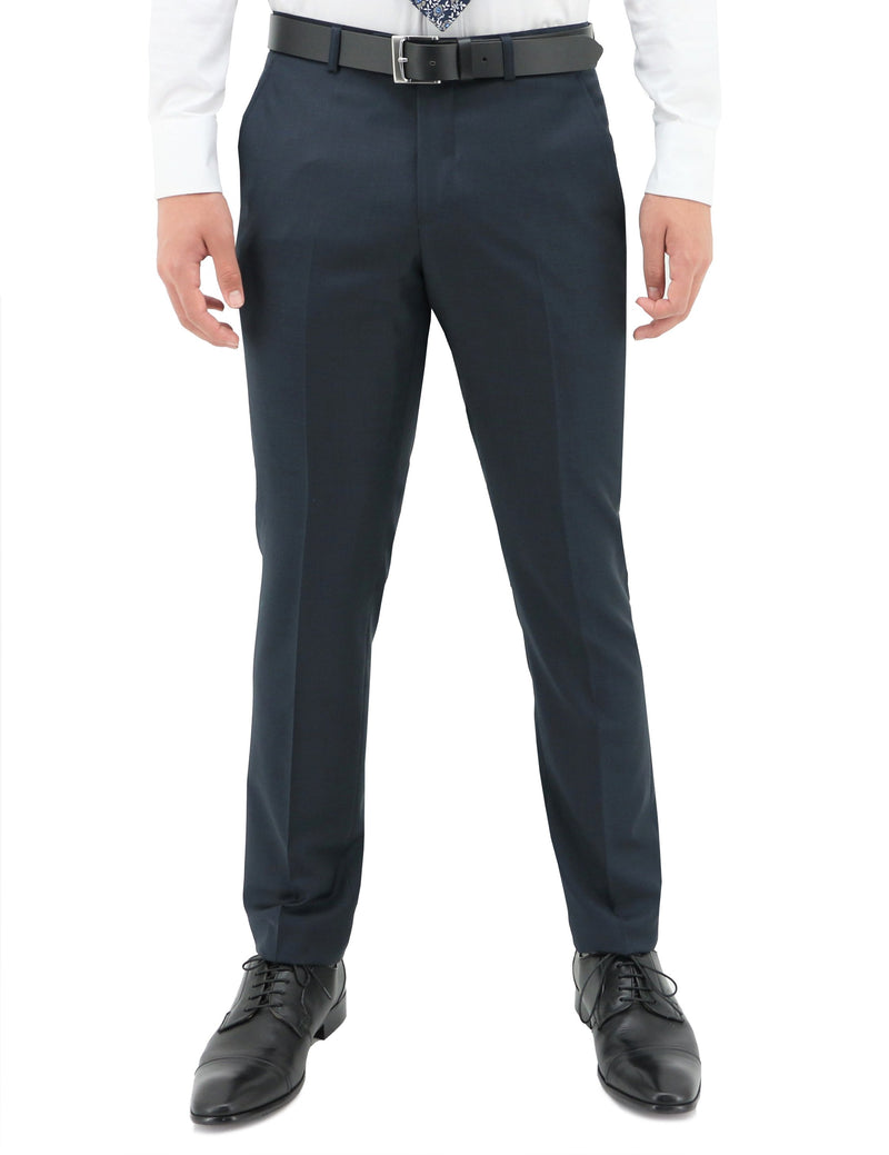 Lyon 106 Oxford Blue Wool Trouser