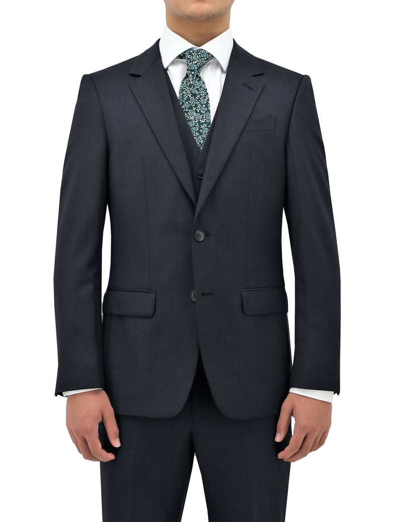 Michel 704 Navy Wool Suit Jacket