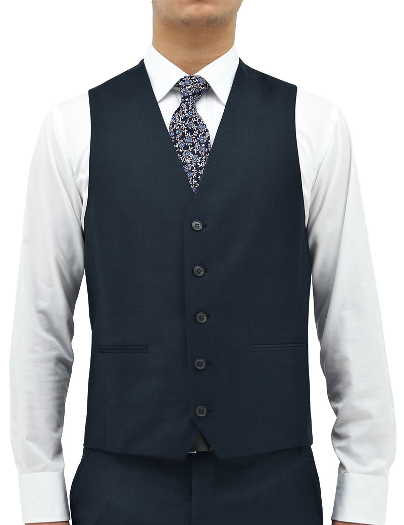 Ryan 106 French Navy Wool Waistcoat