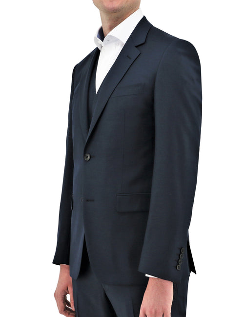 Shape 106 French Navy Wool Suit Jacket
