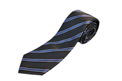 Brown Stripe Silk Tie