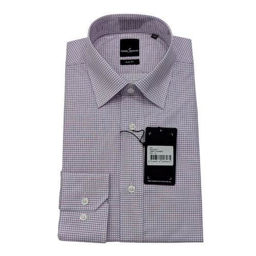 Liberty Business Purple Check Shirt