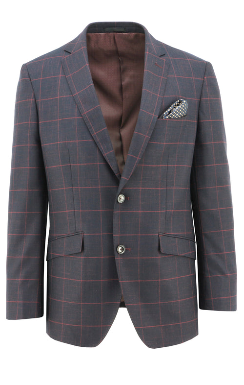 Royale Burgundy Windowpane Sports Jacket