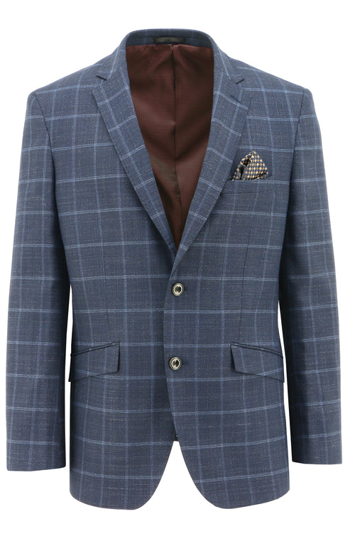 Royale Blue Windowpane Sports Jacket - 100