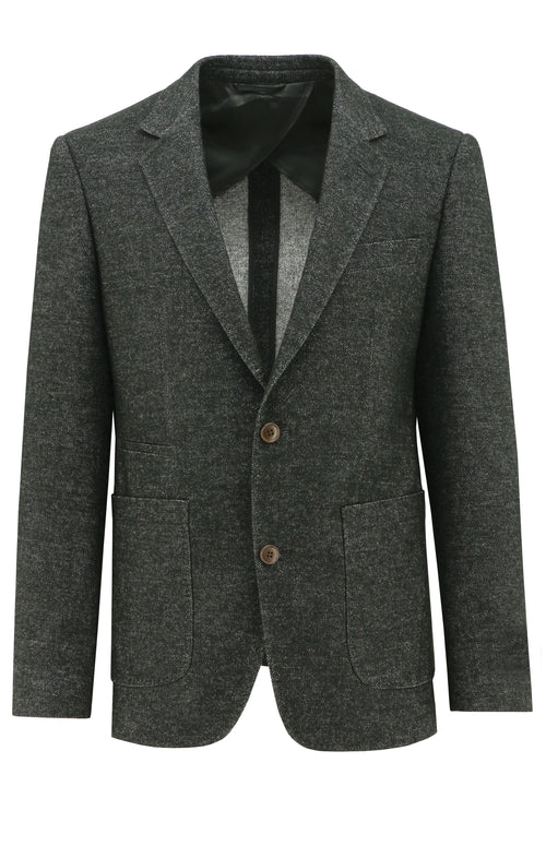 Prague Short Charcoal Textured Sports Jacket