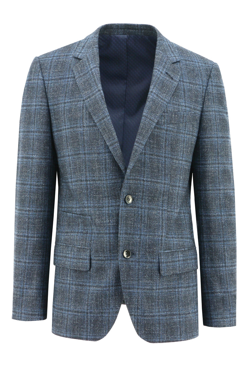 Lisbon Blue Check Sports Jacket - 100