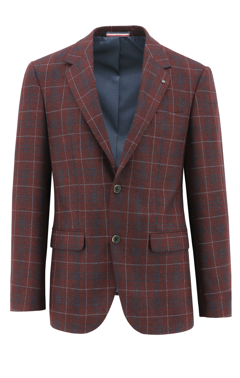 Ritchie Red Check Sports Jacket - 100