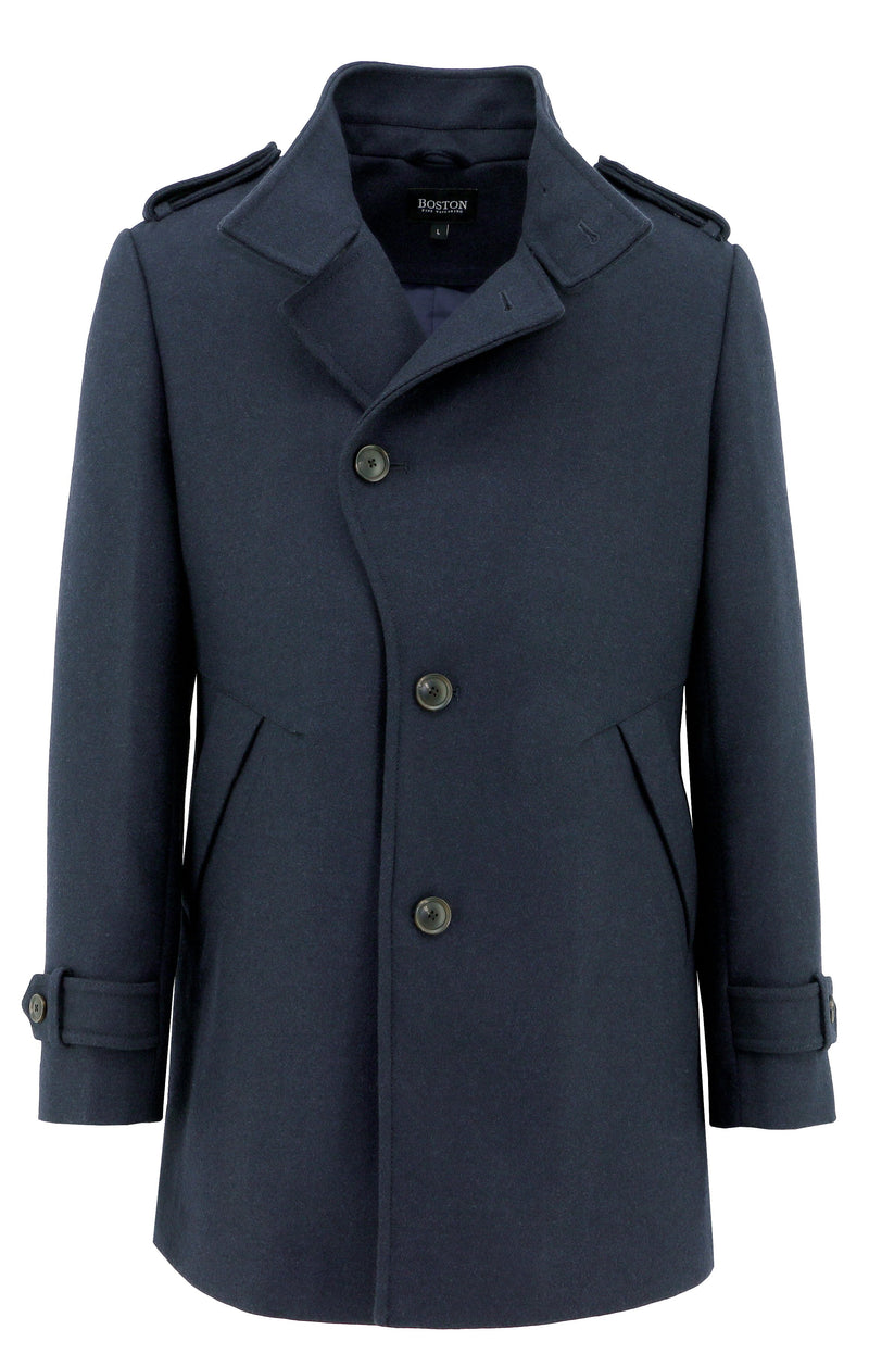 Trench Navy Coat - 3XL