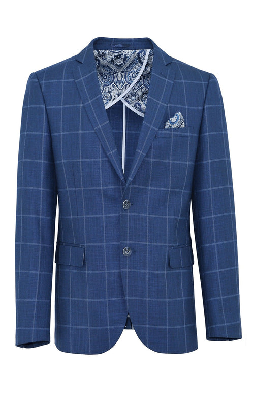 Jasper Blue Windowpane Sports Jacket