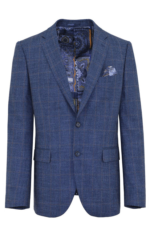 Shape Blue Check Sports Jacket - 96