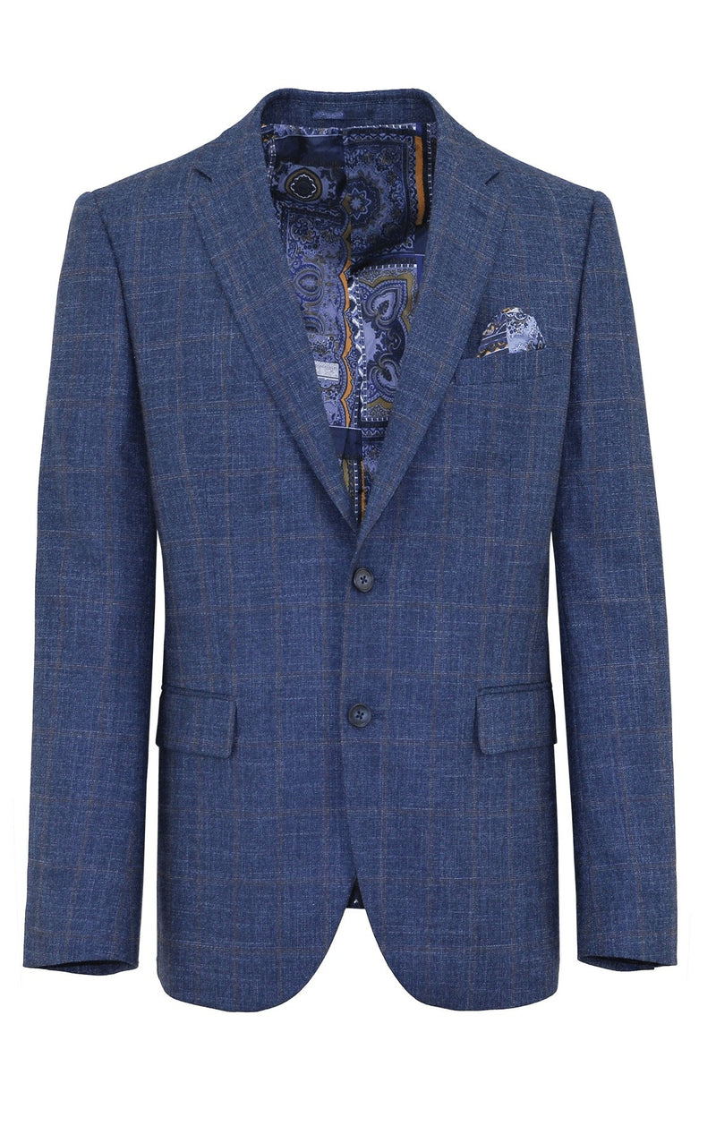Shape Blue Check Sports Jacket