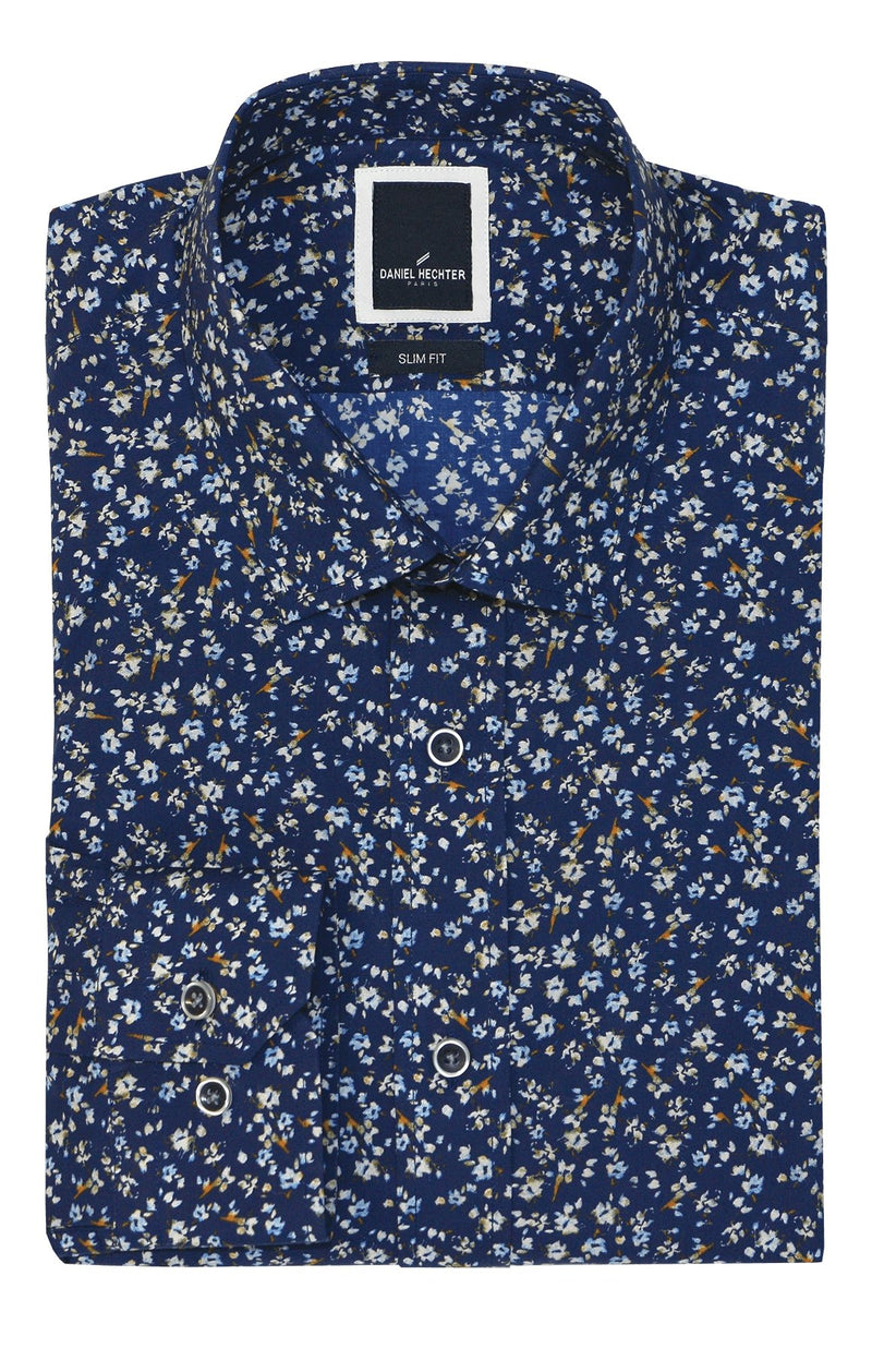 Sel Navy Floral Shirt - 2XL