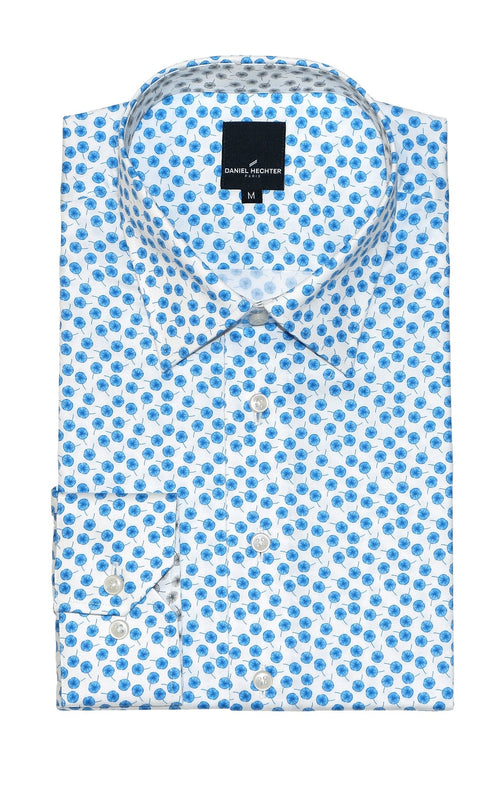 Sel Blue Inverse Poppy Shirt