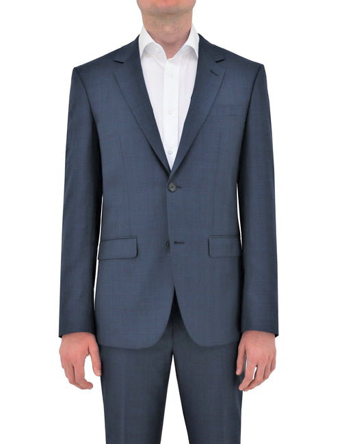 Shape 210 Blue Check Wool Suit Jacket