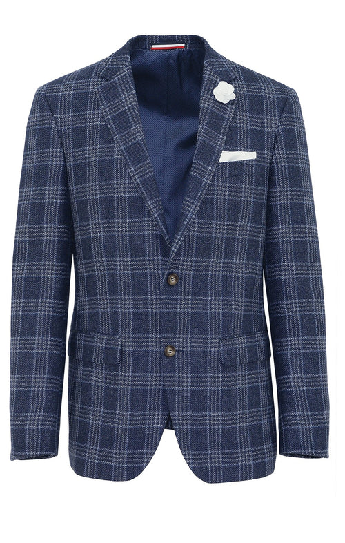 Daniel Hechter Shadow Blue Check Sports Jacket - LIMITED STOCK