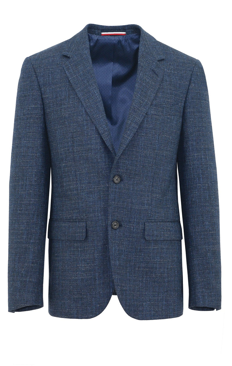 Ritchie Blue Textured Sports Jacket