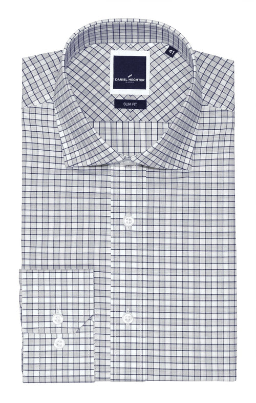 Jacque Grey Check Business Shirt