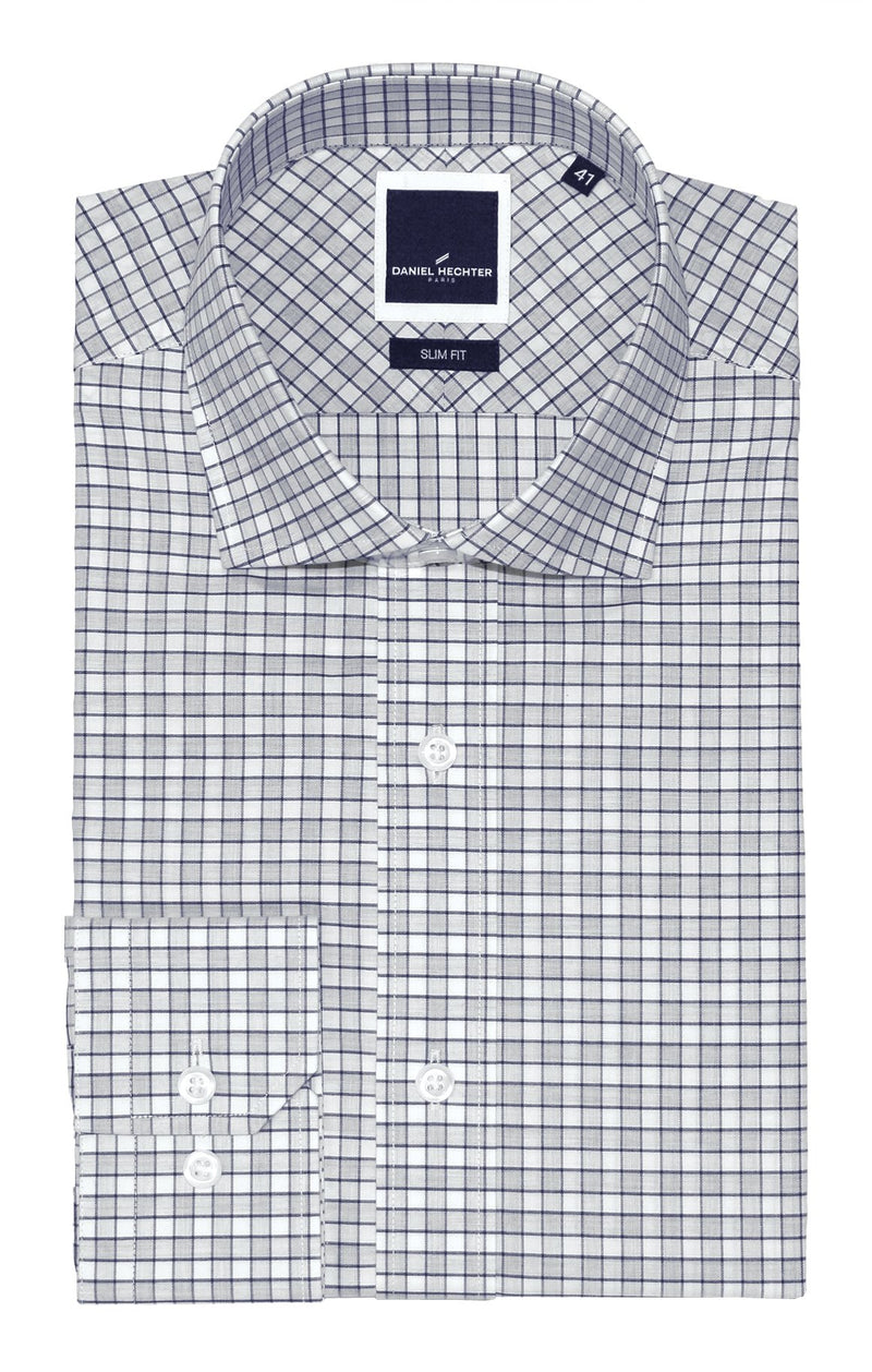 Jacque Business Grey Check Shirt