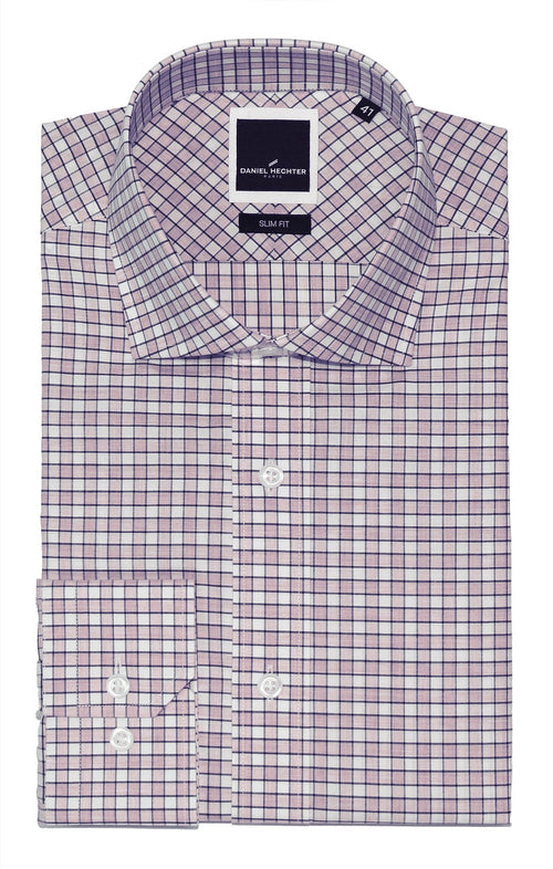 Jacque Business Purple Check Shirt