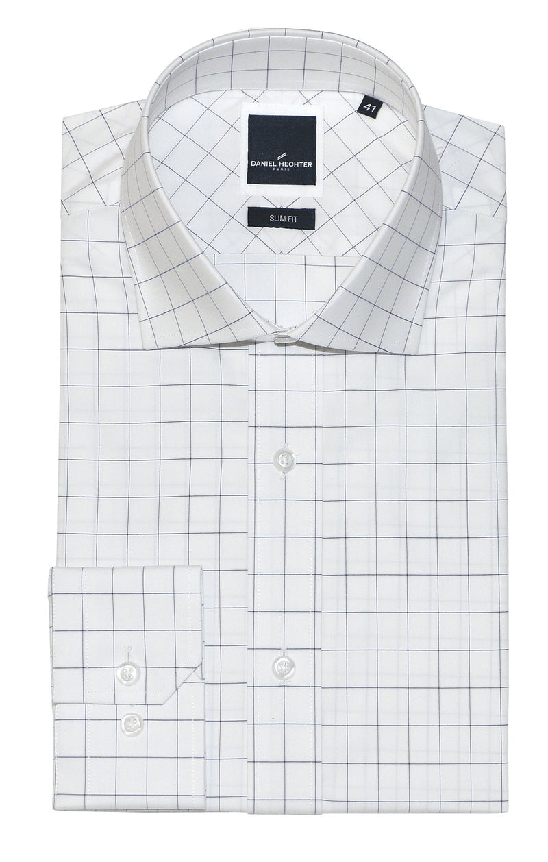 Jacque Business Blue Windowpane Shirt
