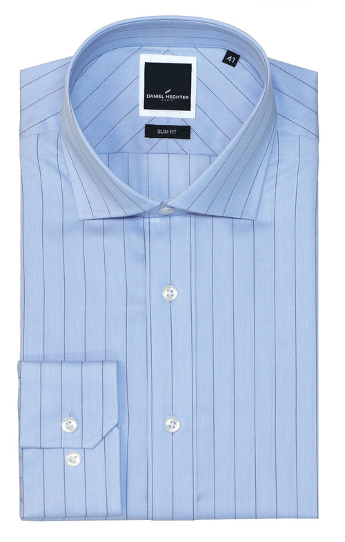 Jacque Business Blue Stripe Shirt