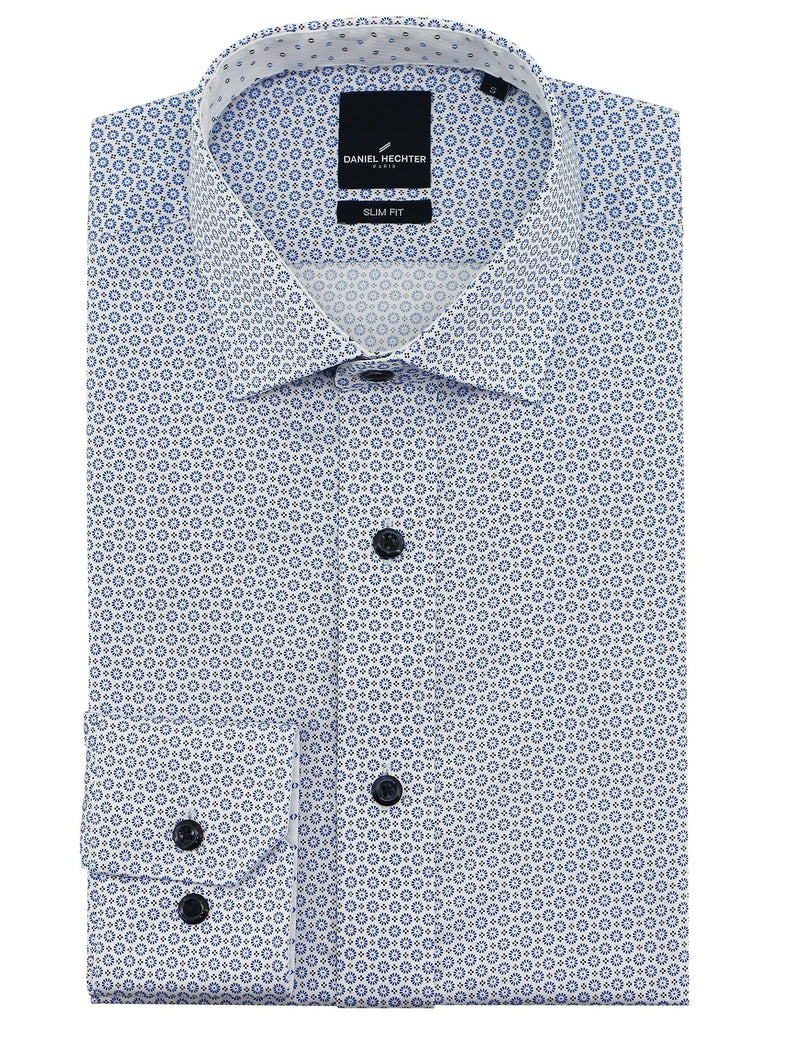 Sel Blue Circle Casual Shirt