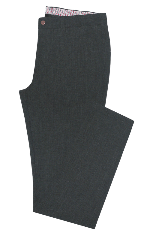 Charcoal Stretch Chino